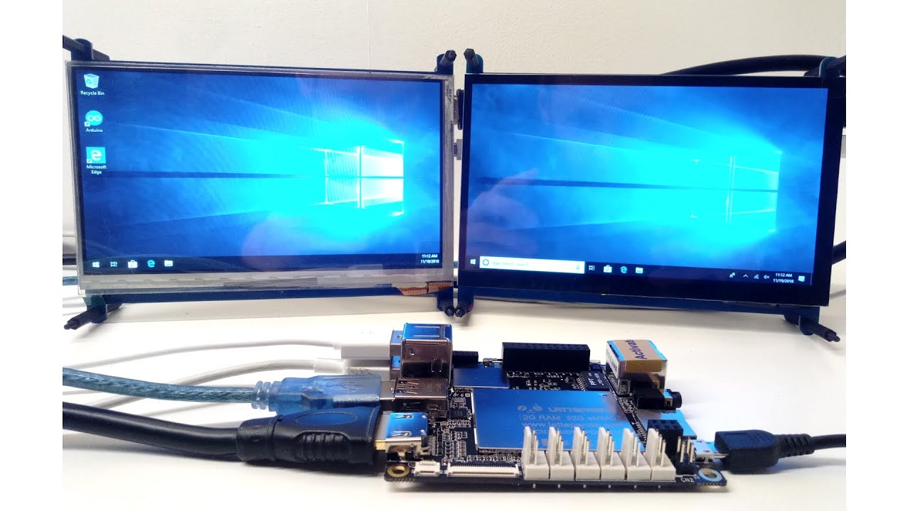 LattePanda A Powerful Windows 10 Mini Quad core PC - dual 7 inch touch screens