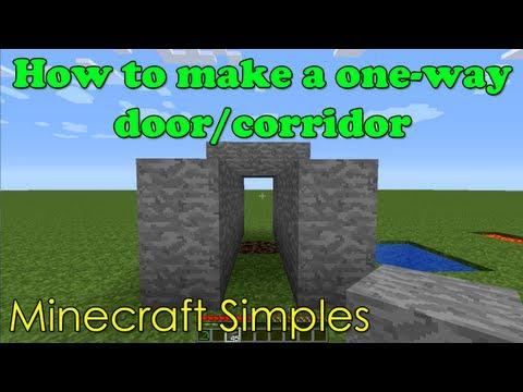 Minecraft Simples: One-Way Door/Corridoor