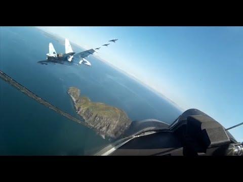 STUNNING: Exhibition performance of Russian Su-35 jets above Russian Far Eastern City Vladivostok