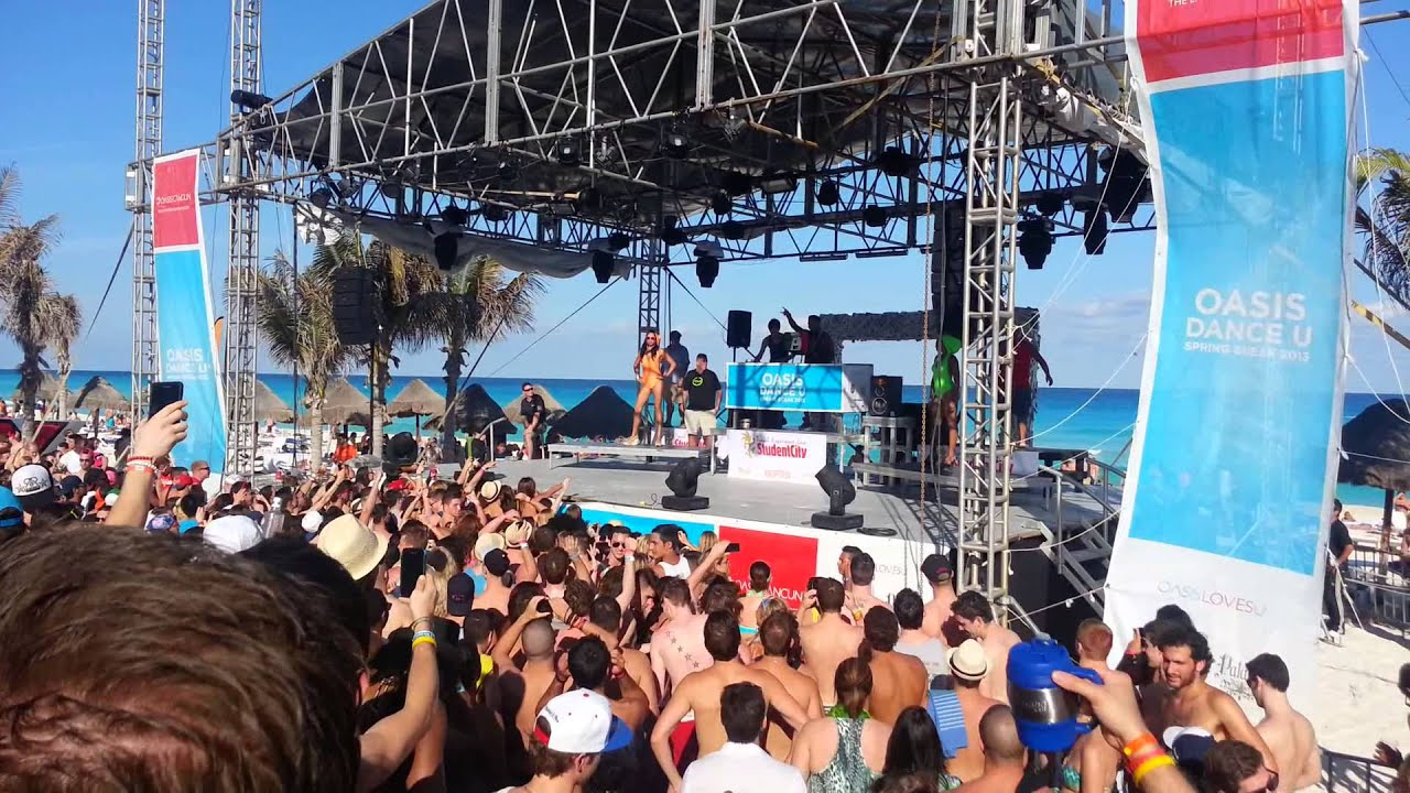 Cancun Spring Break 2017 Pauly D Entrance First Song Oasis Beach Party