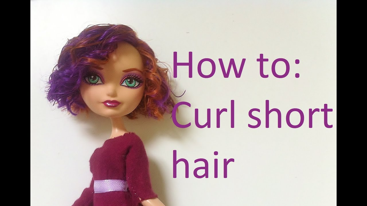 How to Curl short doll hair by EahBoy  YouTube