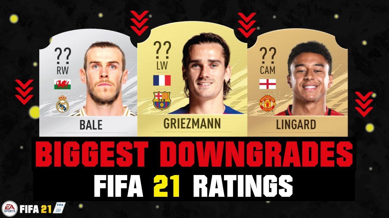 FIFA 21 | BIGGEST RATING DOWNGRADES! 😱🔥| FT. GRIEZMANN, BALE, LINGARD... etc