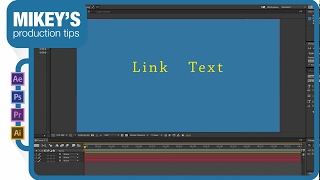 Text Link After Effects Quick Tip