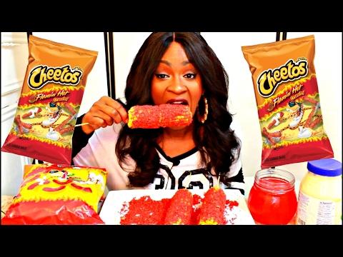 MUKBANG: FLAMIN HOT CHEETOS CORN ON THE COB! EATING SHOW! YUMMYBITESTV