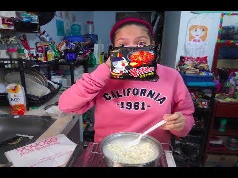 Filipino American vs Korean Spicy Fire Noodle Challenge ✅