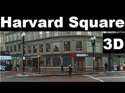 Harvard Square 3D - Starbucks, coop, CVS, new stand, plaza, cambridge savings bank, Mass ave