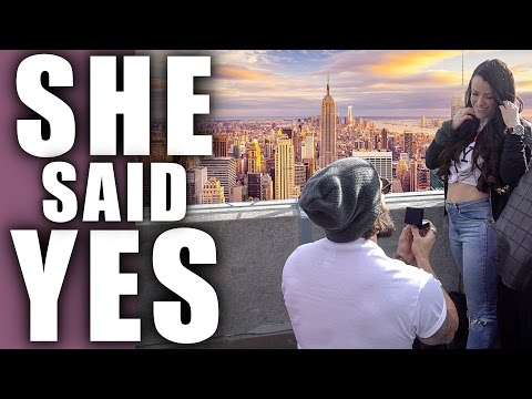 SHE SAID YES! ..... NEW YORK SURPRISE