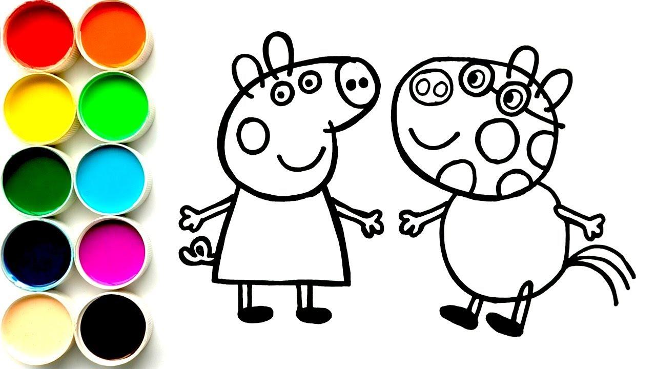 Como Dibujar Y Colorear A Peppa Pig Y Pedro Pony Dibujos Para Niños Arte For Kids Funkeep