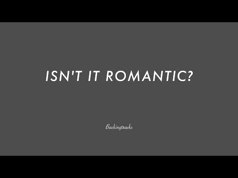 ISN'T IT ROMANTIC? chord progression - Backing Track Play Along Jazz Standard Bible 2