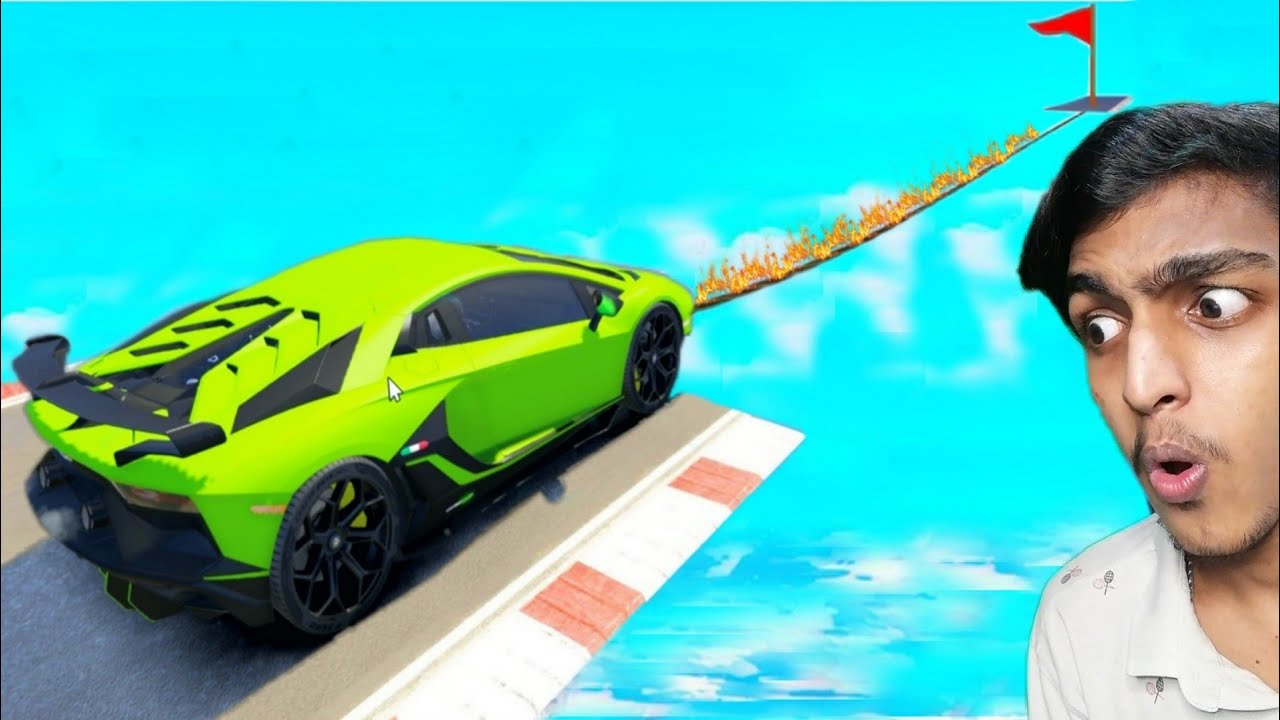 GTA 5 : MOST IMPOSSIBLE TIGHTROPE CAR CHALLENGE !! MALAYALAM
