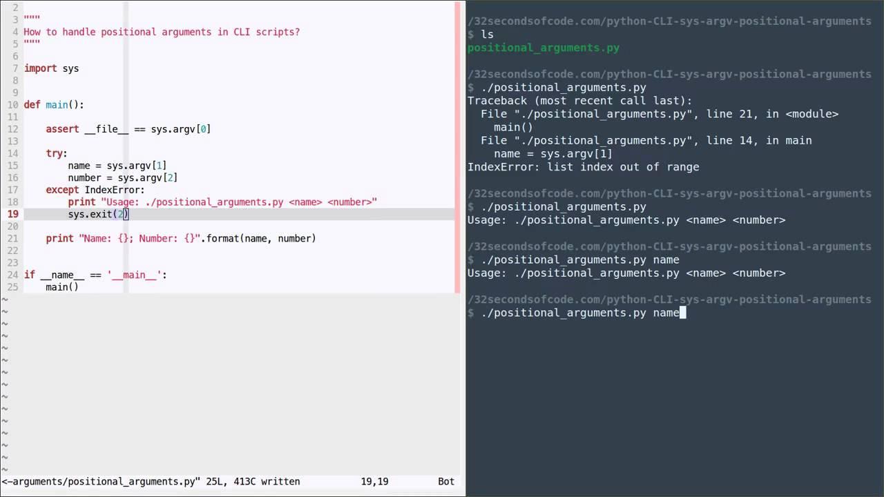 Python sys. Argv[ ] youtube.