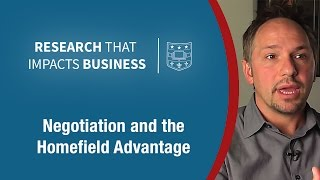 Negotiation and the Home Field Advantage