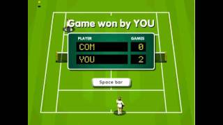 Tennis game - Victory without dropping a point