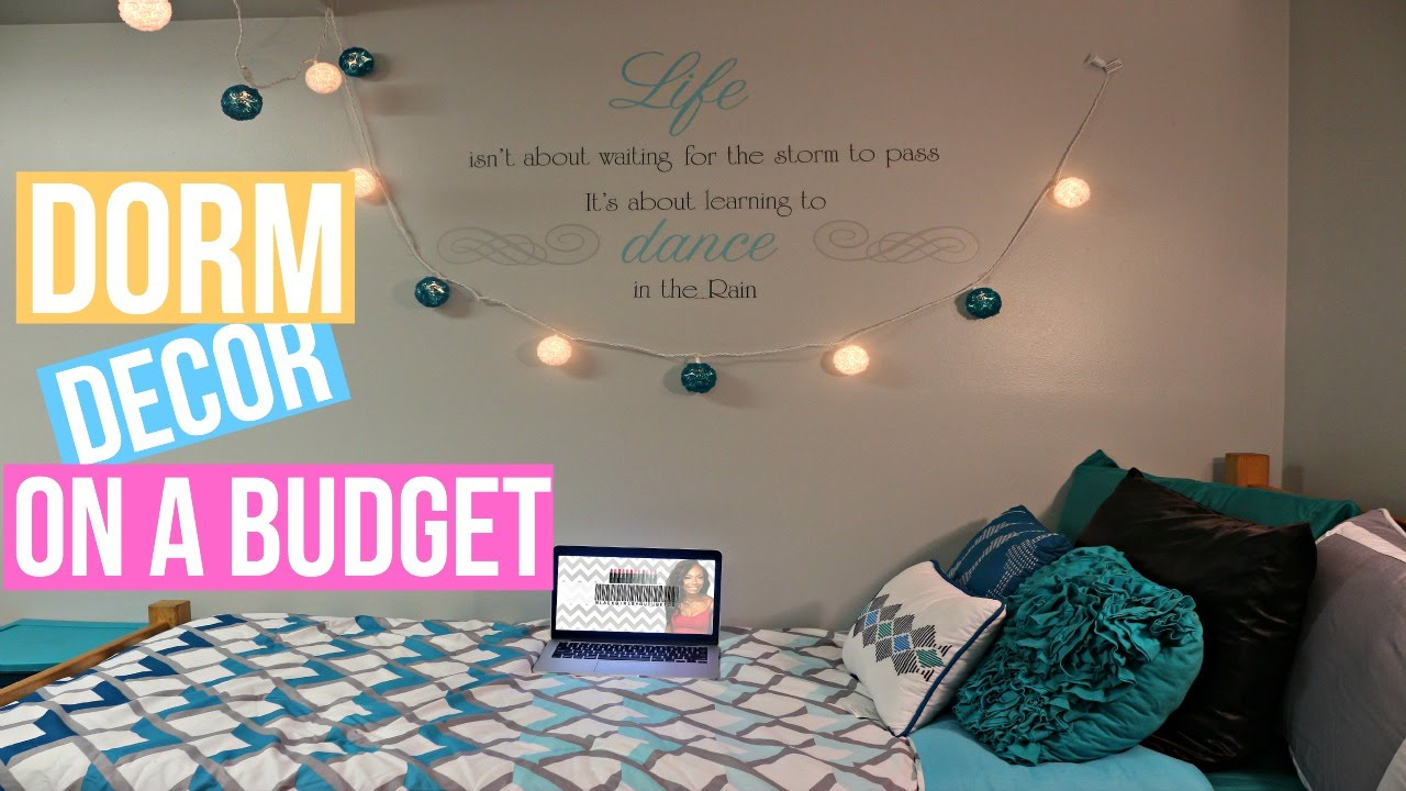 How to Decorate Your Dorm Room On A Budget!! - YouTube on How To Decorate Your Room  id=72295
