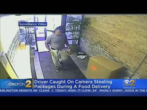 Lance Houston - Chicago Uber Eats Driver Steals Packages from Building