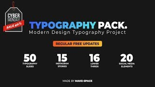 Typography Design Pack | After Effects template