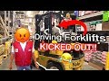 CRASHED THE FORKLIFT IN LOWE'S ! * BANNED FOR LIFE*