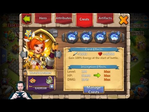 JT's Main Double Evolving HeartBreaker + GamePlay Castle Clash