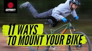 11 Cool Ways To Get On Your Bike