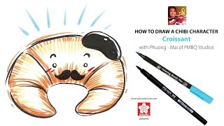 How to Draw a Chibi Croissant