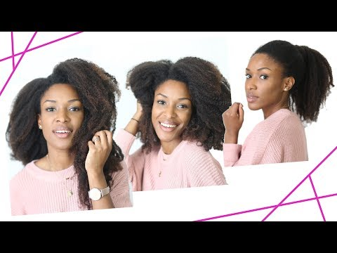 NAPPY • 4 Styles w/ Extensions sur Cheveux Crépus #Sp // Beautiful Naturelle