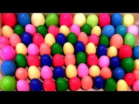 100 Super Surprise Eggs!! LOTR Smurfs DC StarWars Cars Toons Marvel the Avengers Disney Pixar Toys