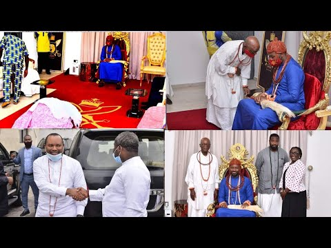 THE LEADERS OF NIGERIA GAS COMPANY VISIT THE OLU OF WARRI ON DEVELOPMENT OF ABANDONED/NEW PROJECTS