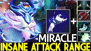 MIRACLE [Mirana] Insane Max Attack Range WTF Meta 7.23 Dota 2