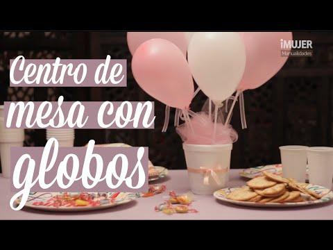 Centros de mesa con globos | decoración para fiestas | iMujer Hogar