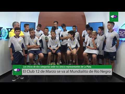 El Club 12 de Marzo de La Plata se va en avión al Mundialito de Río Negro