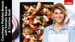 Patatas Bravas with Tomato Sauce and Cashew Aioli by Courtney Roulston