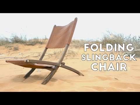 DIY Folding Wood and Leather Slingback Chair | Modern Builds | EP. 58