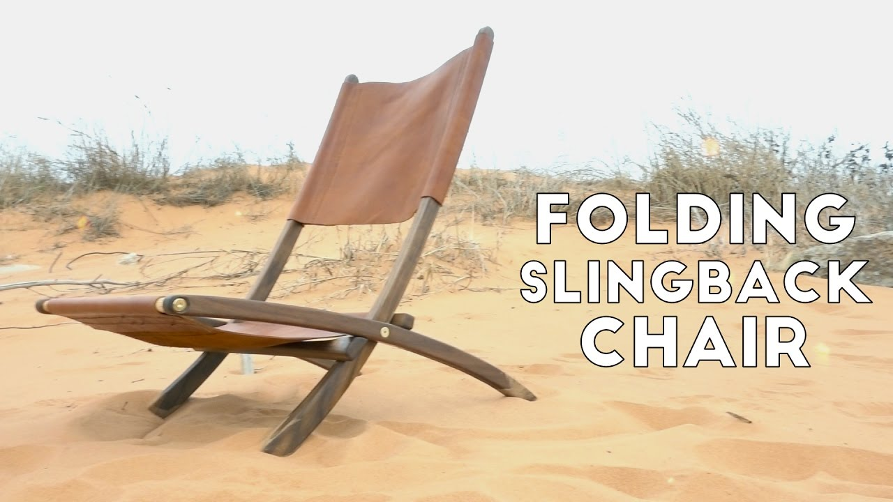 Diy Folding Wood And Leather Slingback Chair Modern