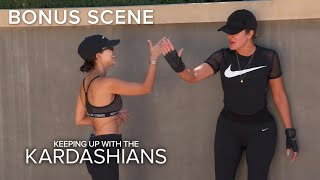 KUWTK | Khloe & Kourtney Kardashian Workout Hungover | E!