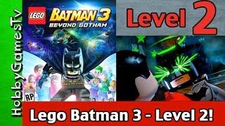 Lego Batman 3 Beyond Gotham Level 2: Video Game! Gameplay Walkthrough Xbox One HobbyGamesTV