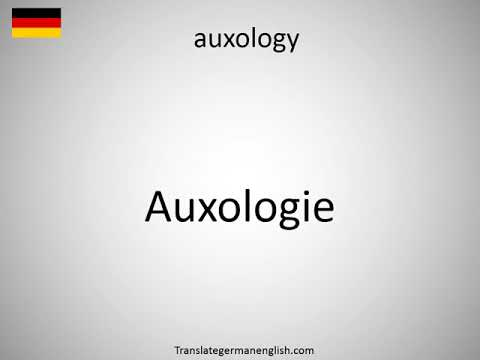 How to say auxology in German?