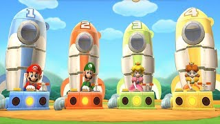 Super Mario Party: 9 Step It Up - Ghost Castle Peach vs Daisy vs Mario vs Luigi Master Difficulty