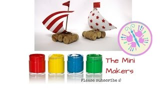 How to make CORK BOATS - SUPER easy craft for kids - perfect for boat races - The Mini Makers