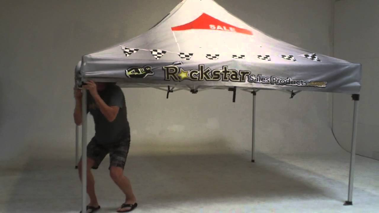 How To Setup the 10x10 Pop Up Event Tent - Also called EZ Up Event Tents - YouTube & How To Setup the 10x10 Pop Up Event Tent - Also called EZ Up Event ...