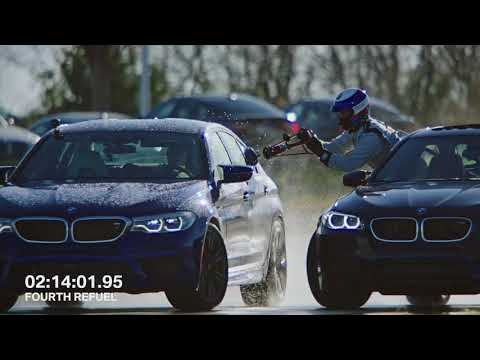 BMW M5 Sets 2 Guinness World Records While Refueling Mid-Drift | BMW USA
