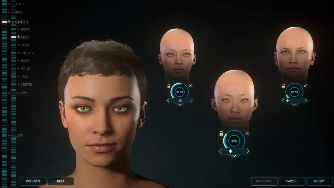 Check out some of the female character creation options planned for