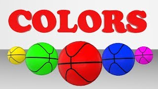 Learn Color with basketball | kids play with colorful balls | Kids Color Land