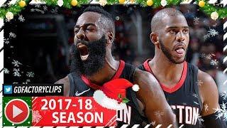 James Harden & Chris Paul Full Highlights vs Spurs (2017.12.15) - 28 Pts Each!