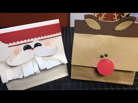 Santa and Rudolf Treat Bag Tutorial