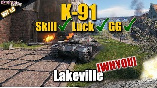 WORLD OF TANKS K-91 lucky but also skilled carry on Lakeville