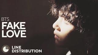 BTS - FAKE LOVE (Line Distribution) - Stafaband