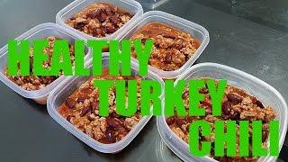 Healthy & Easy Ground Turkey Chili | Meal Prep