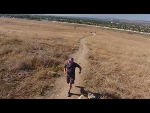 Thiennho -  Trail Running with Flying Drone at Quail Hill