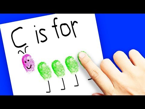 Fingerprint Art For Kids To Learn The Alphabet