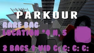 Roblox Parkour - Rare Bag Location #4&5 [Medium] [2Bags in 1 vid]
